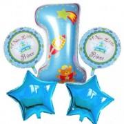 Set 5 baloane folie 1 Aniversar baiat