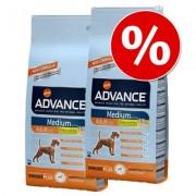Pack Ahorro: Advance 2 x 7,5 a 15 kg - Medium Adult pollo y arroz (2 x 14 kg)