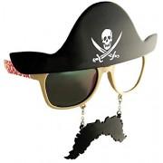 Pirate Costume Party Mustache Sun-Staches black