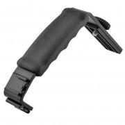 Universele Zware Camera Grip L Beugel met 2 Standaard Side Flitsschoen Mount Video Light Flash voor DSLR Camcorder houder
