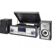 Dual USB gramofon Dual NR 110, řemínkový pohon, stříbrná, černá