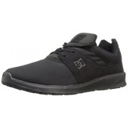 DC Men's Heathrow Se Skateboarding Shoe, Black/Black/Black, 6 M US