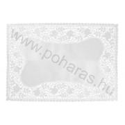 Szögletes tortacsipke [26x37cm] (Fehér)