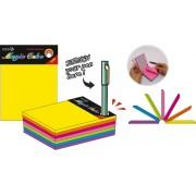 "Magic cube color 101 x 76 mm, 280 file, Stick\""n - 7 culori neon"