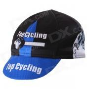 Sombrero sudor-que absorbe de los deportes al aire libre de la manera de UPCYCLING - negro + azul (tamano libre)
