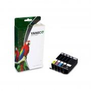 Yanec Canon PGI-550 + CLI-551 XL Zwart en Kleur (5-Pack)(Yanec)