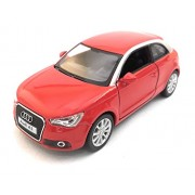 Kinsmart 1:32 Scale Model 2010 Audi A1 | Pull Back and Go | Openable Doors | Metal Body | Small Size | Red