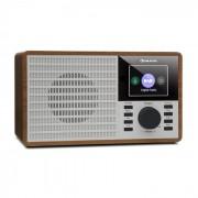 """Auna DR-160 BT, DAB+/FM радио, USB, AUX, 2.4"""" TFT дисплей, дистанционно управление, дърво (KC6-DR-160 BT WB)"""
