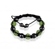 Shamballa náramek LS Fashion LSB009 zelený