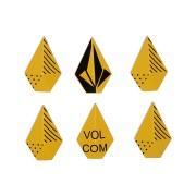 Volcom Stones Studs Stomp Yellow
