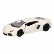 Lamborghini Speelgoed witte Lamborghini Aventador LP700-4 auto 12 cm