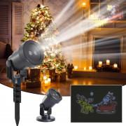 Homcom Proiettore a Led Natale per Giardino e Casa Impermeabile