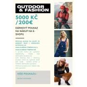 lezecký batoh DÁRKOVÝ POUKAZ V HODNOTĚ 5000 KČ