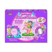 Carousel Kreative Kids 3 in 1 Fairies & Unicorns Mould and Paint Set - Make Your Own Fairy Unicorn Frame, Mirror Ornament