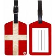 Nutcaseshop RED CROSS Luggage Tag(Multicolor)