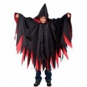 Pelerina halloween cu gluga copii neagra si rosie