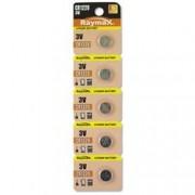 Raymax Batteries Batterie a bottone Litio CR1220 (set 5 pz)