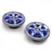Auna CS-LED4 Enceinte auto 10cm 500W Effet lumineux LED