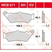 mc mc-delar bromsdetaljer Bromsbelägg FRAM till MC - ZERO DS ZF13.0 Dual Sport - ZERO DS ZF13.0 Dual Sport 2017 - TRW - SV Sinter