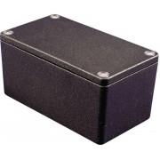 Carcasa de aluminiu IP66, culoare negru, 1550Z124BK, 222 x 146 x 55 mm