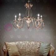 Due P Illuminazione Lucy Lampadario 5 Luci In Ferro Battuto Stile Rustico Fiorentino