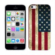 Husa iPhone 5C Silicon Gel Tpu Model USA Flag
