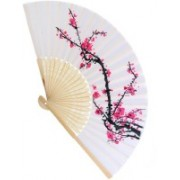 Magideal Foldable Printed White Hand Fan(Pack of 1)