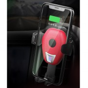 Gravity Car Air Vent 7.5W Qi Wireless Charger Holder [Support FOD Function] for iPhone X/8/8 Plus etc - Red