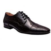 Hirels Croc Patent Black