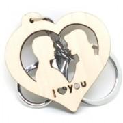 Trunkin Cute Couple In Love Heart Romantic I Love You Keychain