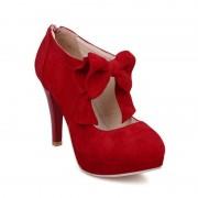 Rosegal Chaussures à Plate-forme à Talons Hauts avec Noeud Papillon Décoratif Grande Taille pour Femme 40