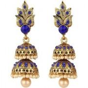 Jewels Gehna Oxidised Gold Plated Antique Fashion Designer Hanging Jhumki Earring Set For Women Girls
