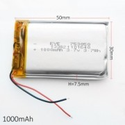 702026 - Acumulator Li-Polymer - 3,7 V - 280mah - 26x20x7 mm