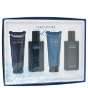 Davidoff Cool Water EDT Spray + After Shave Balm + Shower Gel + After Shave Splash Gift Set Men's Fragrances 481278