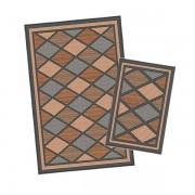 Korhani Burnaby Outdoorteppich-Set 160x213 cm + 80x112 cm Schwarz Braun Mehrfarbig