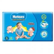 Fraldas Descartáveis Infantis Huggies Turma da Mônica Tripla Proteção Mega Tamanho Grande 9 A 12,5 Kg Com 48 Unidades