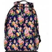Sleevy laptop rugzak 15,6 Deluxe oranje/roze bloemetjes