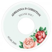 Confetti Tea Rose Diecut CD Label