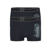 Fitness Kapo bamboo boxerky - dvojbal XL šedá