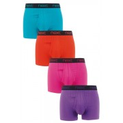 Mens Next Black Waistband A-Fronts Four Pack - Brights
