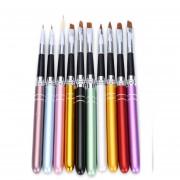 10pcs Pro Cepillo De Manicura De La Pintura Nail Art Brushes