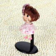 Alcoa Prime 10Pcs Adjustable Metal Doll Stand 10-13cm for Barbie Dolls Teddy Bears Black