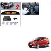 Auto Addict Car Silver Reverse Parking Sensor With LED Display For Maruti Suzuki Alto 800