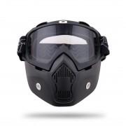 Titan Masca Moto + Ochelari Moto Detasabili pentru castile Open Face cod2