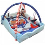 Saltea de Joaca cu Protectii Laterale Happy Baby - Sailor Babies