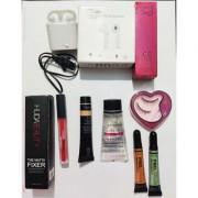 Perfect combo of Huda lipstick huda make up fixer primer foundation LA girl pro 9 to 5 CC Bonjour Eyelashes with I7s