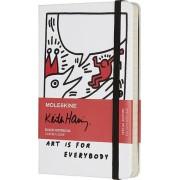Moleskine Notes Moleskine Keith Haring kieszonkowy biały w linie