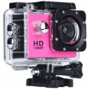 Camera Sport iUni Dare 50i HD 1080P 12M Waterproof Roz Bonus Bratara Roca Vulcanica unisex