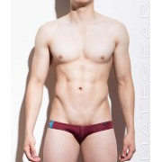 Mategear Ran Kwang Flat Front Reduced Sides Extremely Sexy Mini Boxer Brief Underwear Maroon 970901