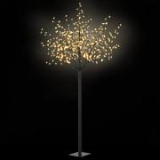 vidaXL LED коледно дърво за закрито и открито, IP44 250 см, топло бяло